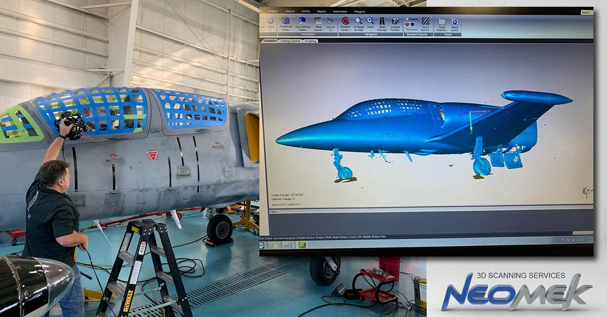 3D Scanning a Jet with a Creaform Metrascan